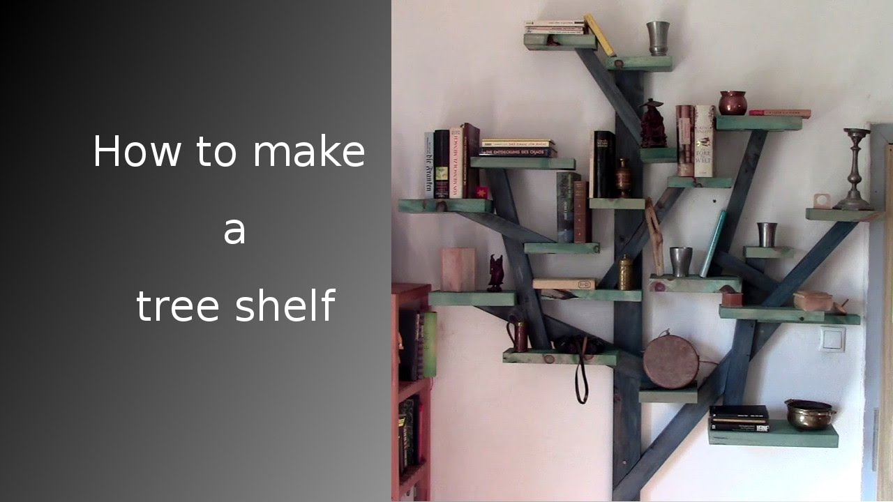 ᐉ How To Make A Tree Shelf From Scrap Wood YouTube - Corner tree bookshelf