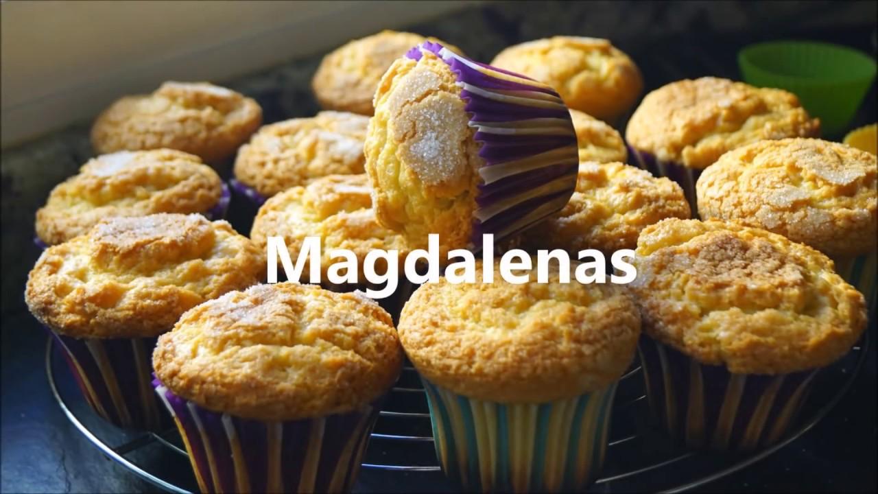 Cocina Fácil Magdalenas Caseras   Magdalenas Caseras Receta Muy Facil Youtube