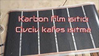Karbon film ısıtıcı civciv kafesi ısıtma