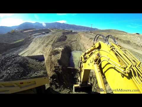 Digging A 25' Deep Trench... Using A CAT 5130B Excavator