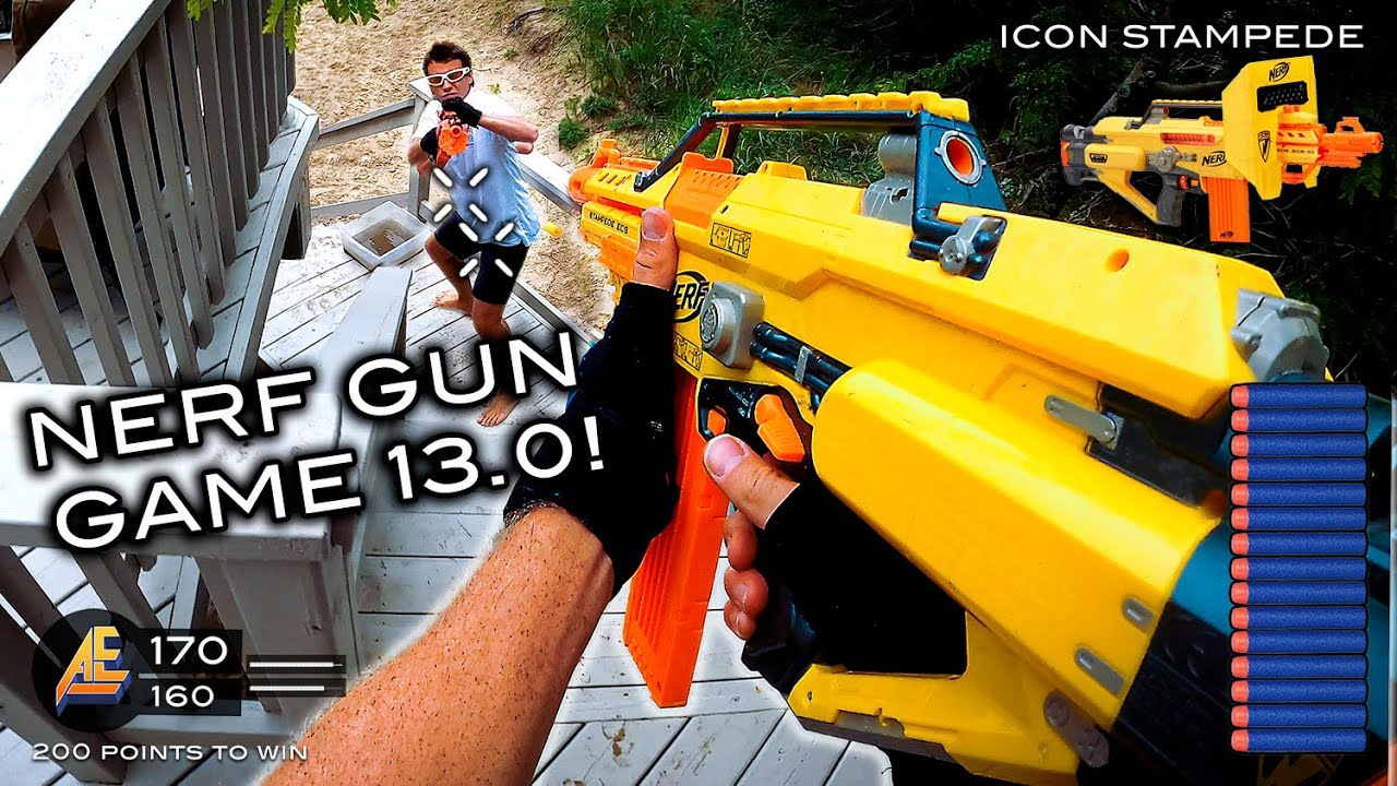 NERF GUN GAME 13.0 (Nerf First Person Shooter!)