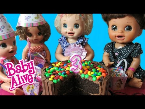 BABY ALIVE Learns to Doll Livi's Birthday Party + Livi sings a cute birthday song+Announcement
