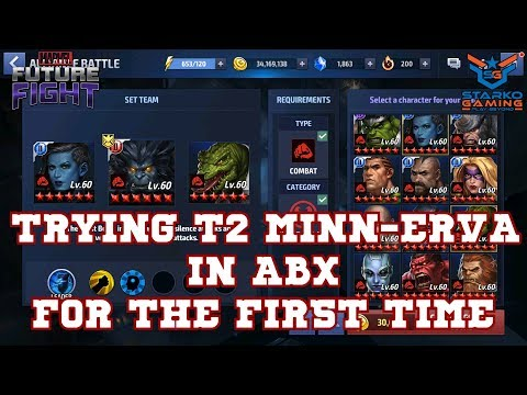 Trying T2 Minn-Erva in ABX for the First Time ⚕️|Marvel Future Fight