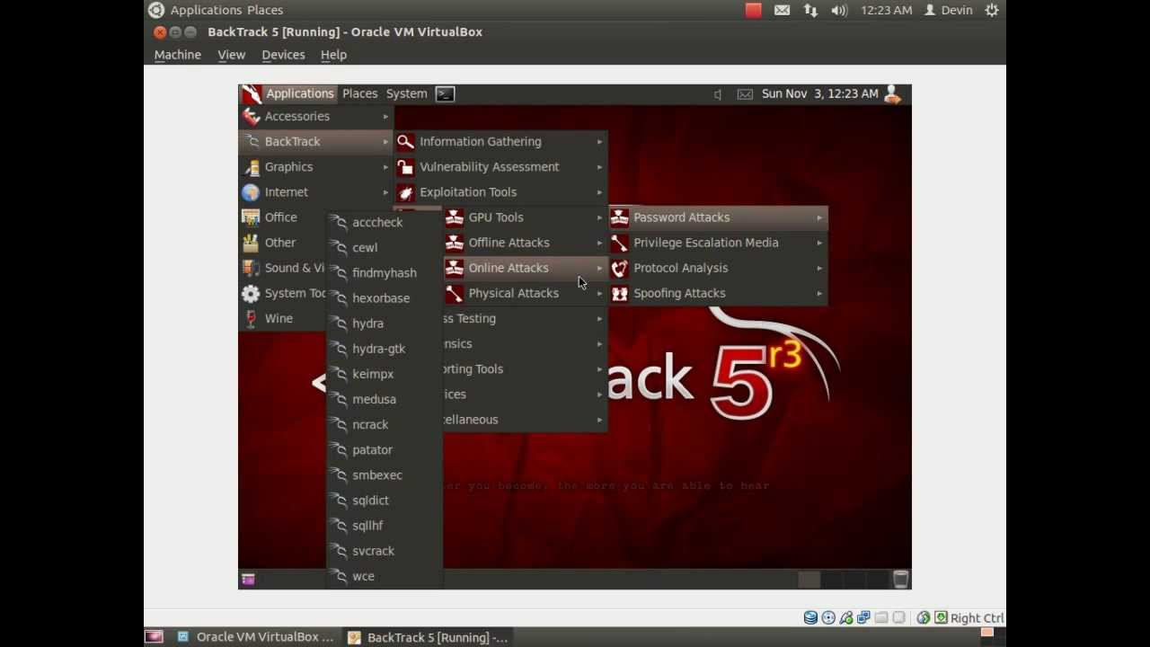 How To Install Backtrack 5 Within Linux Ubuntu Virtualbox Youtube