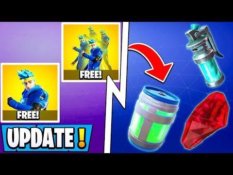 *NEW* Fortnite Update! | Glug Jug Item, Free Ninja Skins, Map Changes!