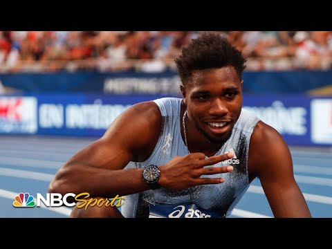 Noah Lyles Breaks Usain Bolt's 200m Meet Record In Paris | NBC Sports