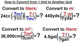 Physics - Chapter 0: General Intro (13 of 20) How to Convert 1 Unit to Another Unit