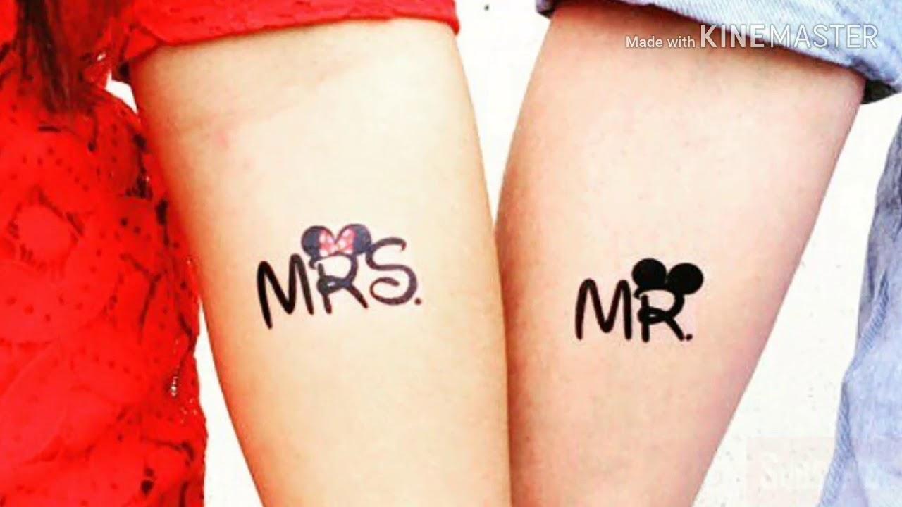 cbfc1fa1f Top 25 best couple tattoo ideas || love tattoo design ideas|| Latest tatoo