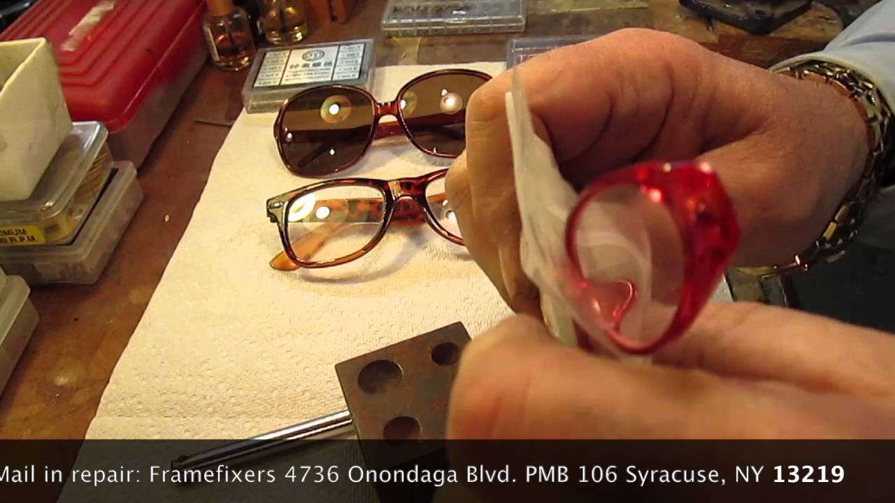 714b2f6da8c Vintage Plastic Glasses Lens Removal and Replacement - YouTube