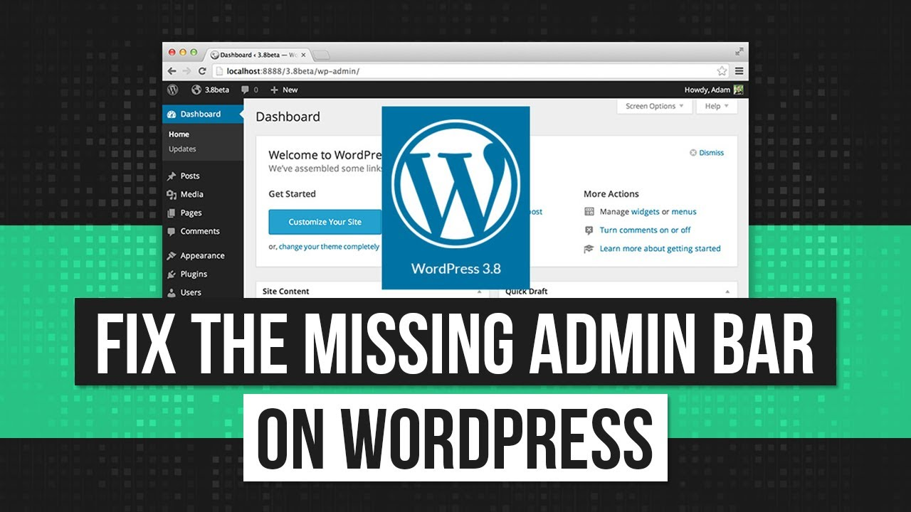 WordPress Admin Bar Not Showing? - How to Fix the Missing Admin Bar!