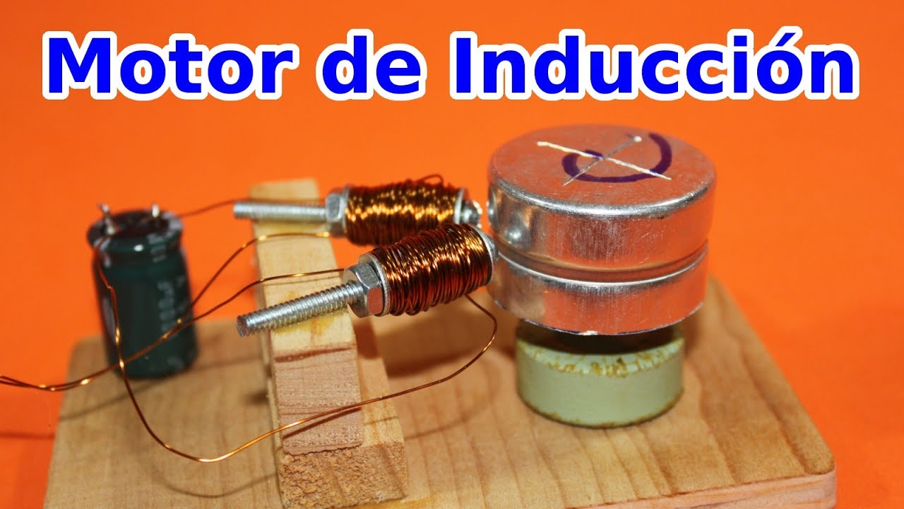 261c87f72fd Motor de Inducción de Corriente Alterna Casero - YouTube