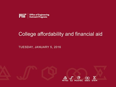 Family Webinar Series: College Affordability and Financial Aid (January 5, 2016)