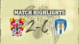 Транмир Роверс  2-0  Колчестер Юнайтед видео