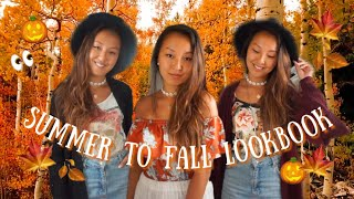 🍁 FALL OUTFIT IDEAS 🌞 Summer to Fall Transition Looks / Lookbook