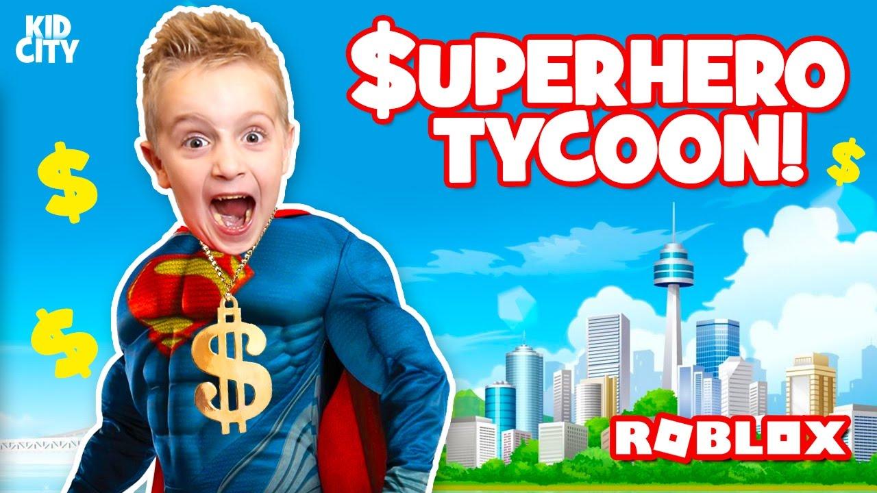 roblox super hero tycoon  building superman u0026 39 s fortress  u0026 opening super hero toys
