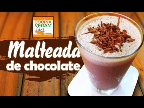 Malteada vegana de chocolate  Cocina Vegan Fcil  YouTube