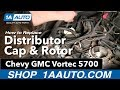How To Install Replace Distributor Cap & Rotor Chevy GMC Vortec 5700 1AAuto.com
