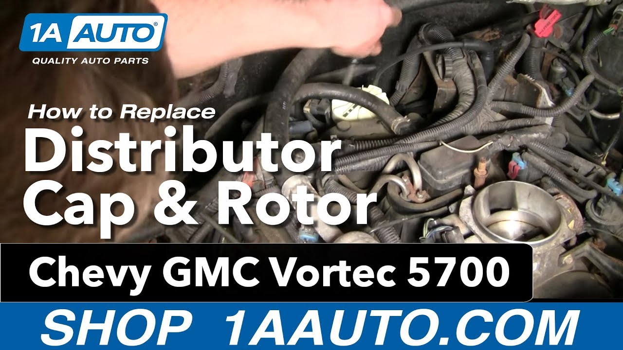 How to install replace distributor cap rotor chevy gmc vortec 5700 1aauto com youtube