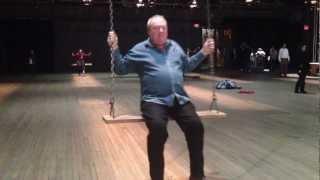 70 year old man on swing