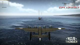 War Thunder - Landing B24 Liberator on a Carrier.