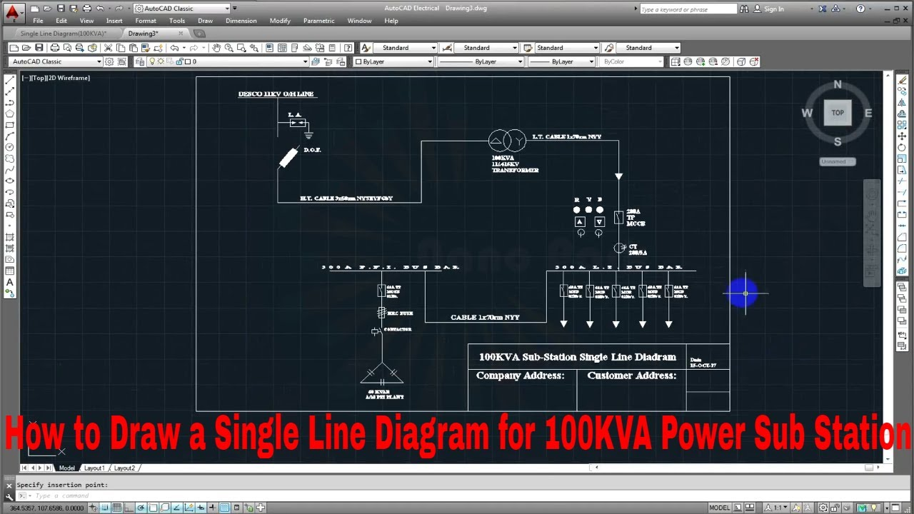 Draw A Single Line Diagram For 100kva Power Sub Station