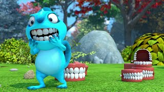 CHATTERING TEETH #1 #2 #3 FULL EPISODE | Cam & Leon | Cartoon for Kids | Funny Cartoon