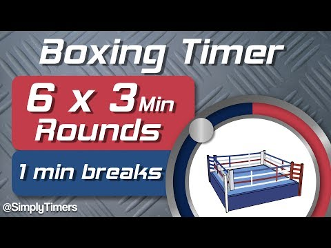 6 Round Boxing Match / Training Timer - 6 x 3min with 1 min Breaks