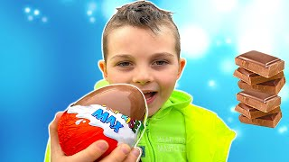 Do not eat too much candy | Chocolate challenge w/ Timko and Daddy
