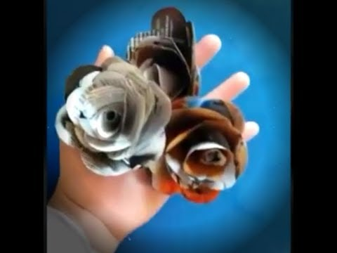 How to make easy roses from waste magazine paper | Tutorial.