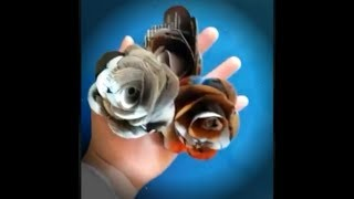 How to make easy roses from waste magazine paper   Tutorial.