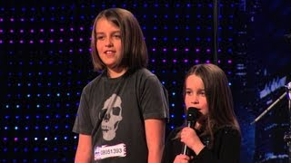 "Six year old Aaralyn & Izzy sing ""ZOMBIE SKIN"" on America"