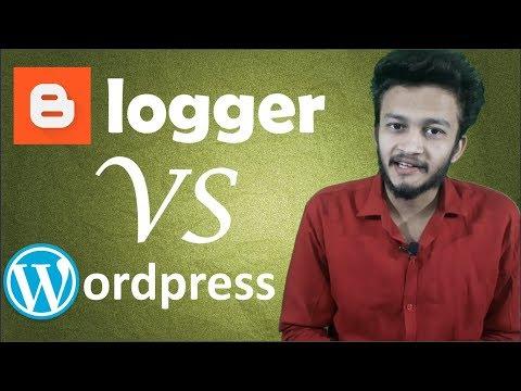 Blogger vs Wordpress - which platform is Best full detail in Hindi.