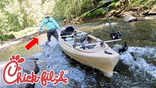 CRAZY FISHING ADVENTURE WITH CHICK-FIL-A MANAGER!!! (He Made a BIG Mistake...)