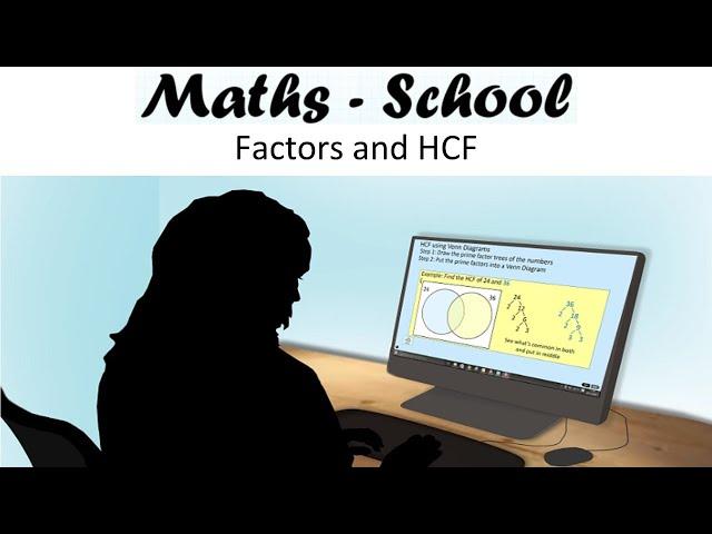 Factors and Highest Common Factors (HCF) Maths GCSE Revision Lesson (Maths - School)