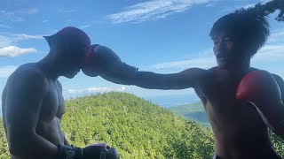 BOXING ON THE TOP OF THE MOUNTAIN 🥊 🏔