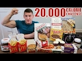 20 000 CALORIE CHALLENGE   Epic Cheat Day   Man vs Food