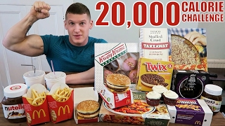 One of MattDoesFitness's most viewed videos: 20,000 CALORIE CHALLENGE | Epic Cheat Day | Man vs Food