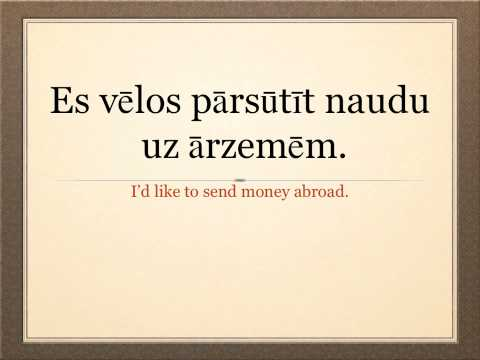 Learn Latvian Language - At the Bank