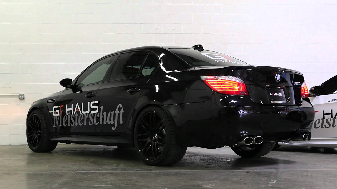 e60 bmw m5 with meisterschaft gtc exhaust with section 1 2 youtube. Black Bedroom Furniture Sets. Home Design Ideas