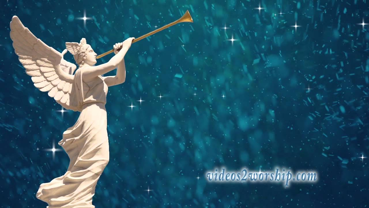 Angel With Trumpet Christmas Background - YouTube