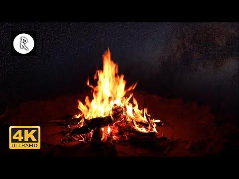 Campfire & Rain at Night | Nature for Sleep, Insomnia, SPA, Relaxing Rain