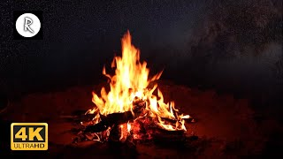 Campfire & Rain at Night | Nature for Sleep, Insomnia, SPA, Relaxing Rain