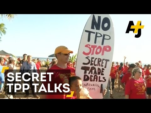 Secret Trans-Pacific Partnership (TPP) Talks Met With Protesters In Hawaii