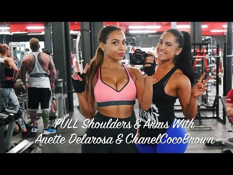 KILLER Shoulders & Arms | Miami Workout With Anette Delarosa | Chanel Coco Brown