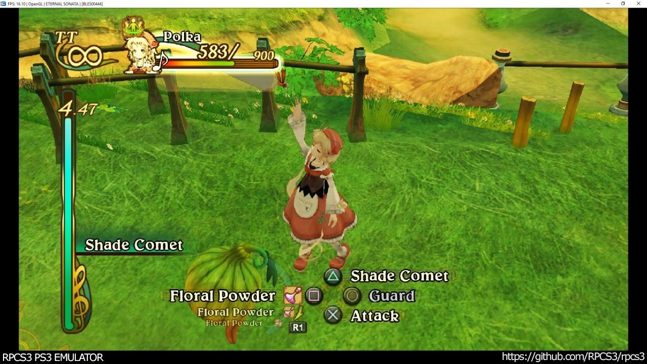 RPCS3 PS3 Emulator - Eternal Sonata Ingame! OGL LLVM (c5e66650)