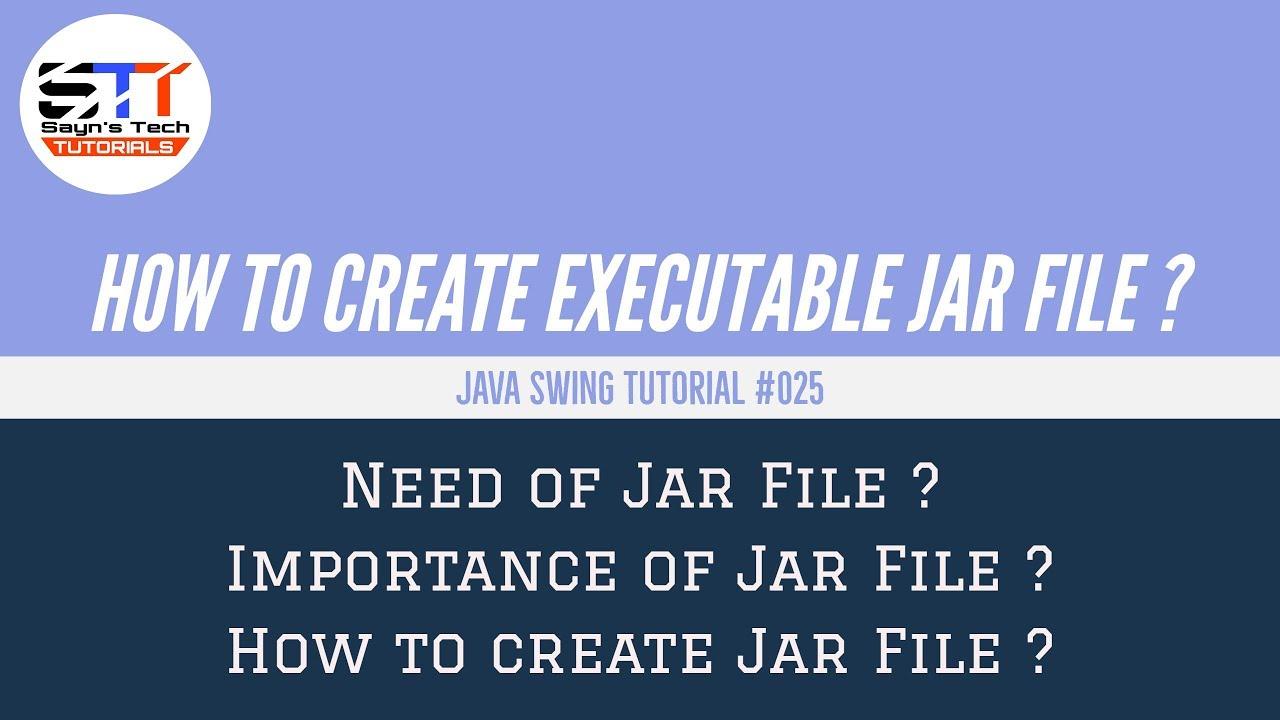 How to Create Executable Jar File | Java Swing Tutorial ...