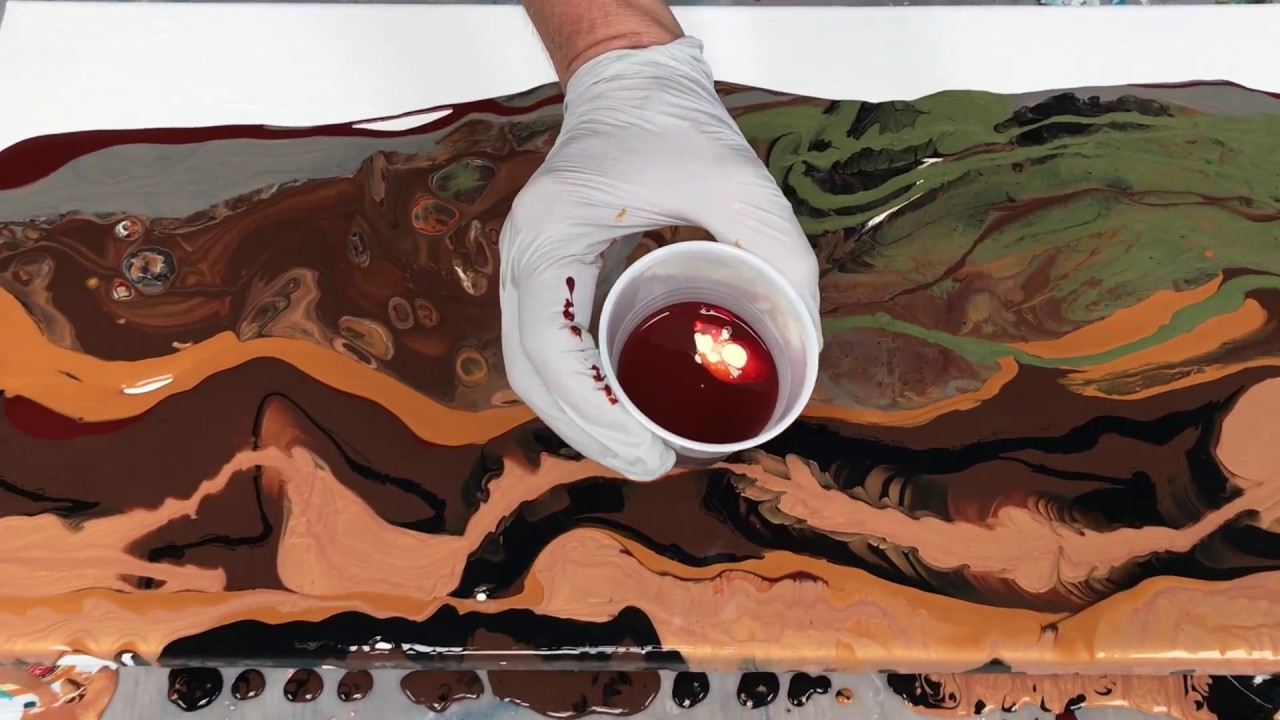 d8ba49c4b81 Acrylic Pour Painting  How One Painting Leads To The Next--Earth Pour