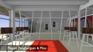 Blender Animation 3D Visualization of UUI Building Library - B.A.R.A