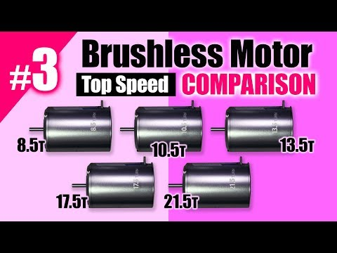Brushless Motor Comparison(8.5,10.5,13.5,17.5,21.5T) Top Speed by G-FORCE,TAMIYA,YOKOMO
