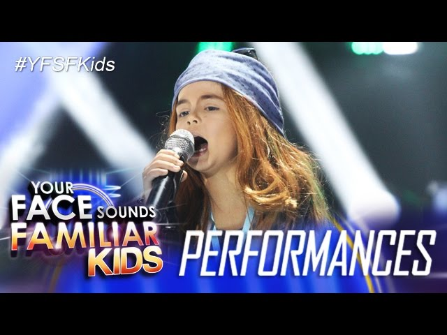 "Your Face Sounds Familiar Kids: Xia Vigor as Axl Rose - ""Sweet Child O' Mine"""